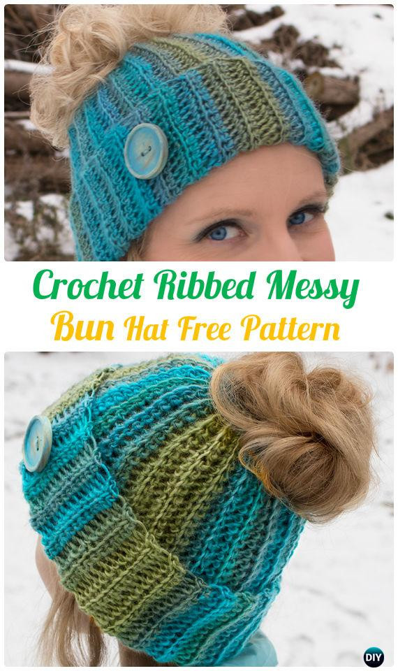 Best Of Crochet Ponytail Messy Bun Hat Free Patterns [instructions] Free Crochet Pattern for Messy Bun Hat Of Beautiful 47 Ideas Free Crochet Pattern for Messy Bun Hat
