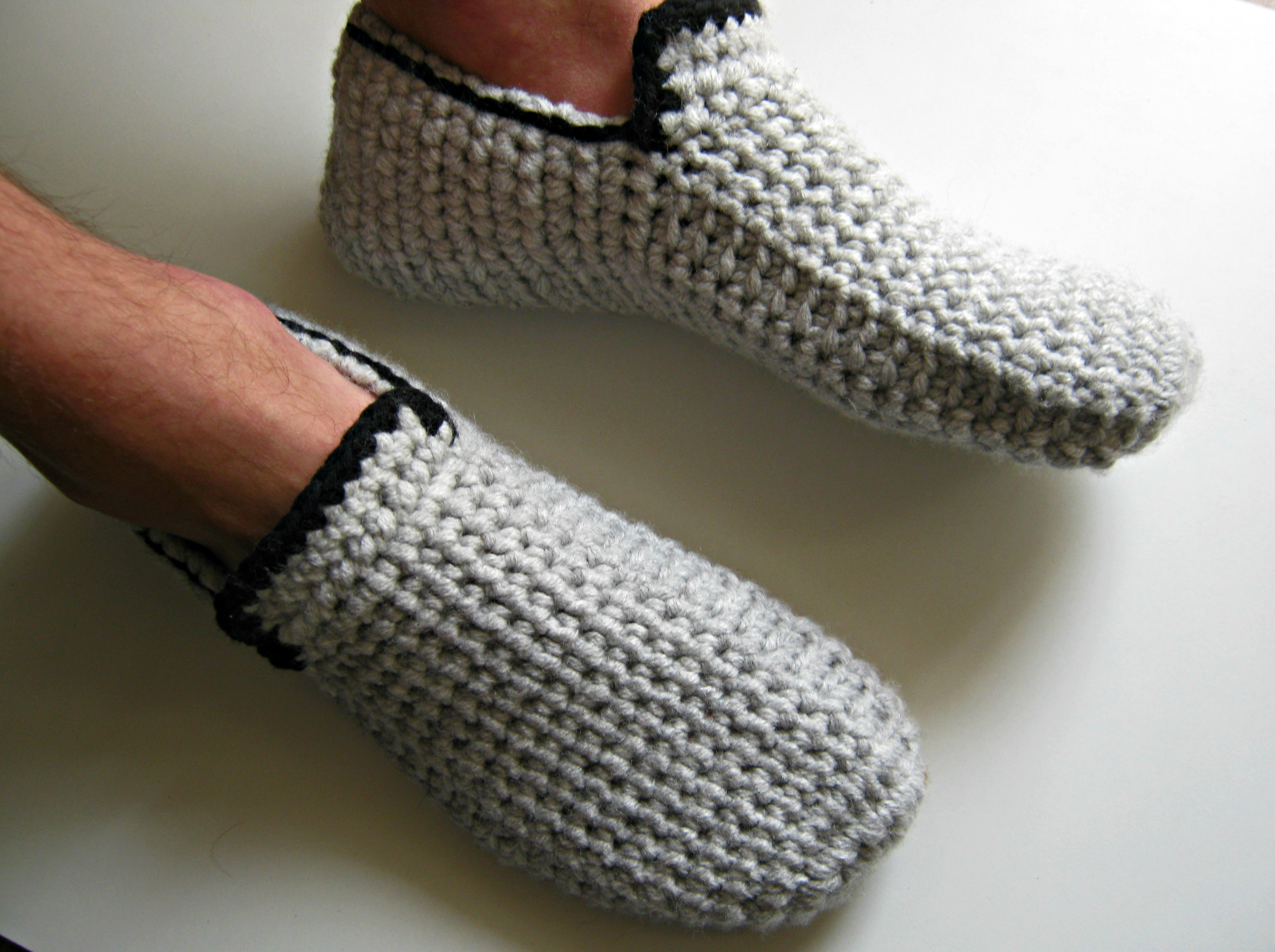 Best Of Crochet Slippers Men Crochet and Knit Mens Knitted Slippers Of Incredible 44 Pictures Mens Knitted Slippers