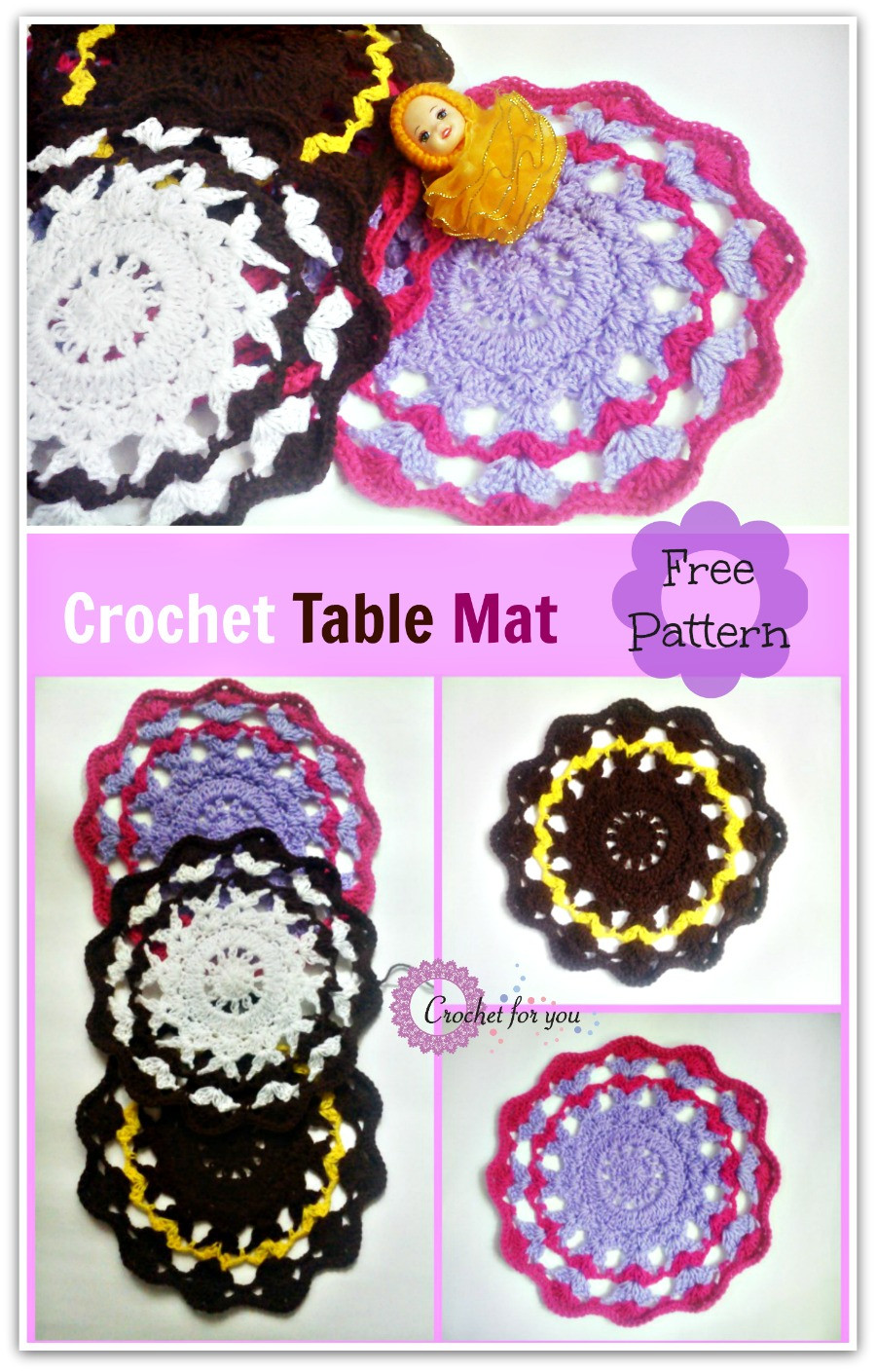 Best Of Crochet Table Mat Free Pattern Crochet for You Crochet Table Mat Of Gorgeous 47 Ideas Crochet Table Mat