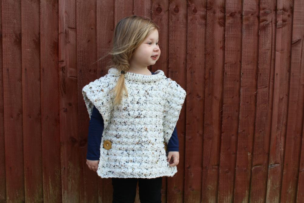 Best Of Crochet toddler Flecked Pullover by Palerosecrochet Craftsy toddler Poncho Crochet Pattern Of Great 46 Images toddler Poncho Crochet Pattern
