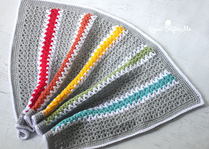 Best Of Crochet V Stitch Rainbow Blanket Repeat Crafter Me Rainbow Crochet Blanket Of Great 40 Photos Rainbow Crochet Blanket