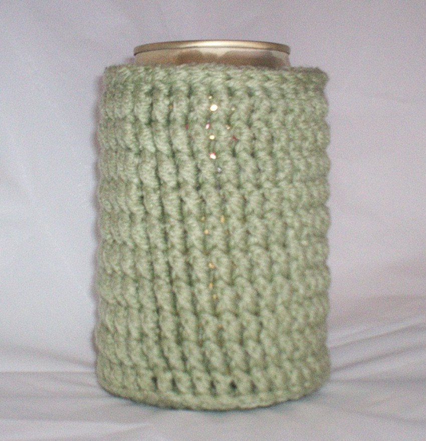 Best Of Crocheted 12 Oz Can Cozy Beer Holder Sage Green Can Cozy Of Wonderful 48 Pictures Can Cozy