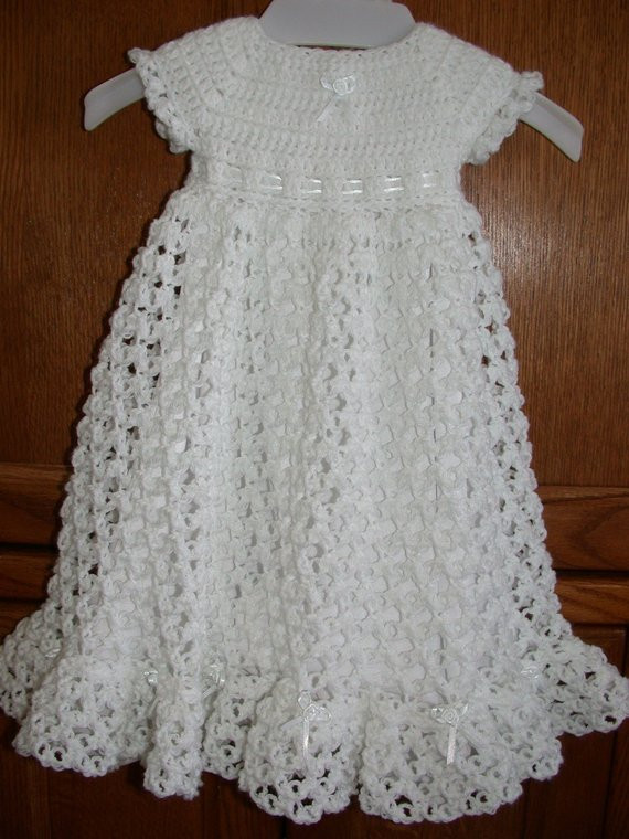 Best Of Crocheted Baby Blessing Christening Dress Crochet Dress for Baby Of Amazing 42 Photos Crochet Dress for Baby