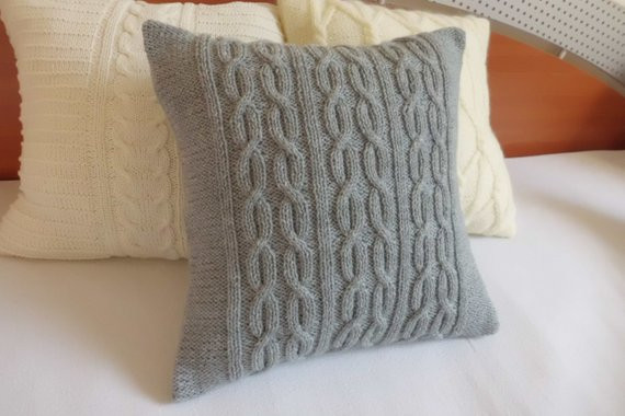 Best Of Custom Gray Decorative Cable Knit Pillow Cover Throw Pillow Cable Knit Throw Pillow Of Great 48 Ideas Cable Knit Throw Pillow
