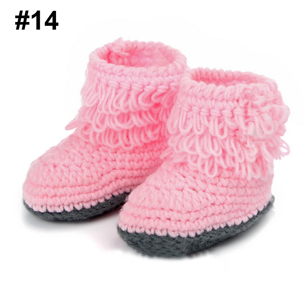Best Of Cute Knit Girls Boys Baby Crochet Casual Shoes Boots Crib Crochet Baby Girl Shoes Of Amazing 43 Images Crochet Baby Girl Shoes