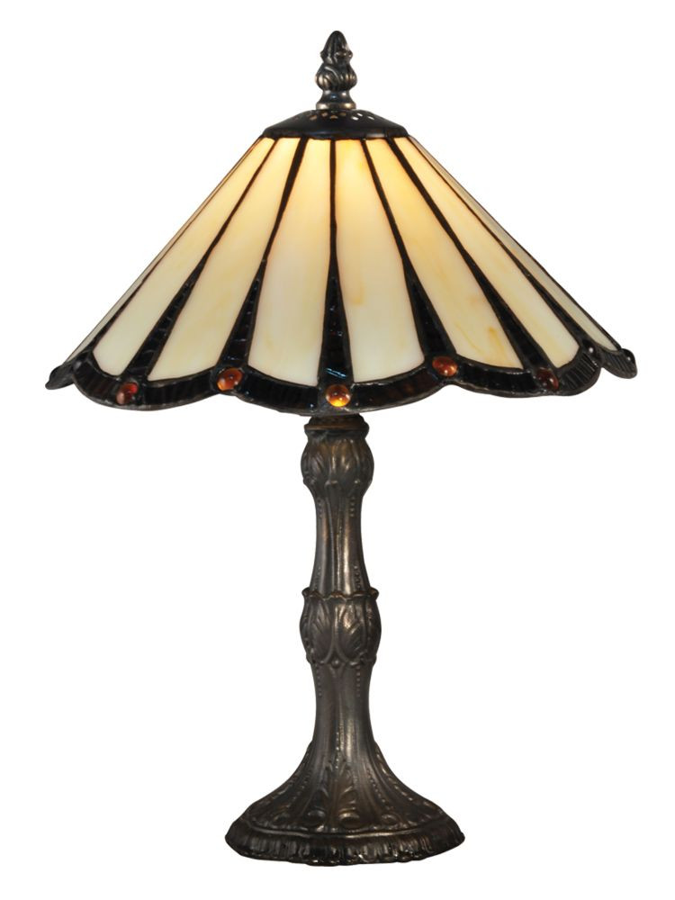 dale tiffany ta ripley accent lamp in antique bronze with hand rolled art glass shade