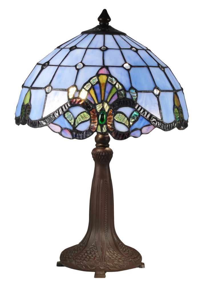 Dale Tiffany TT Blue Baroque Table Lamp In Antique
