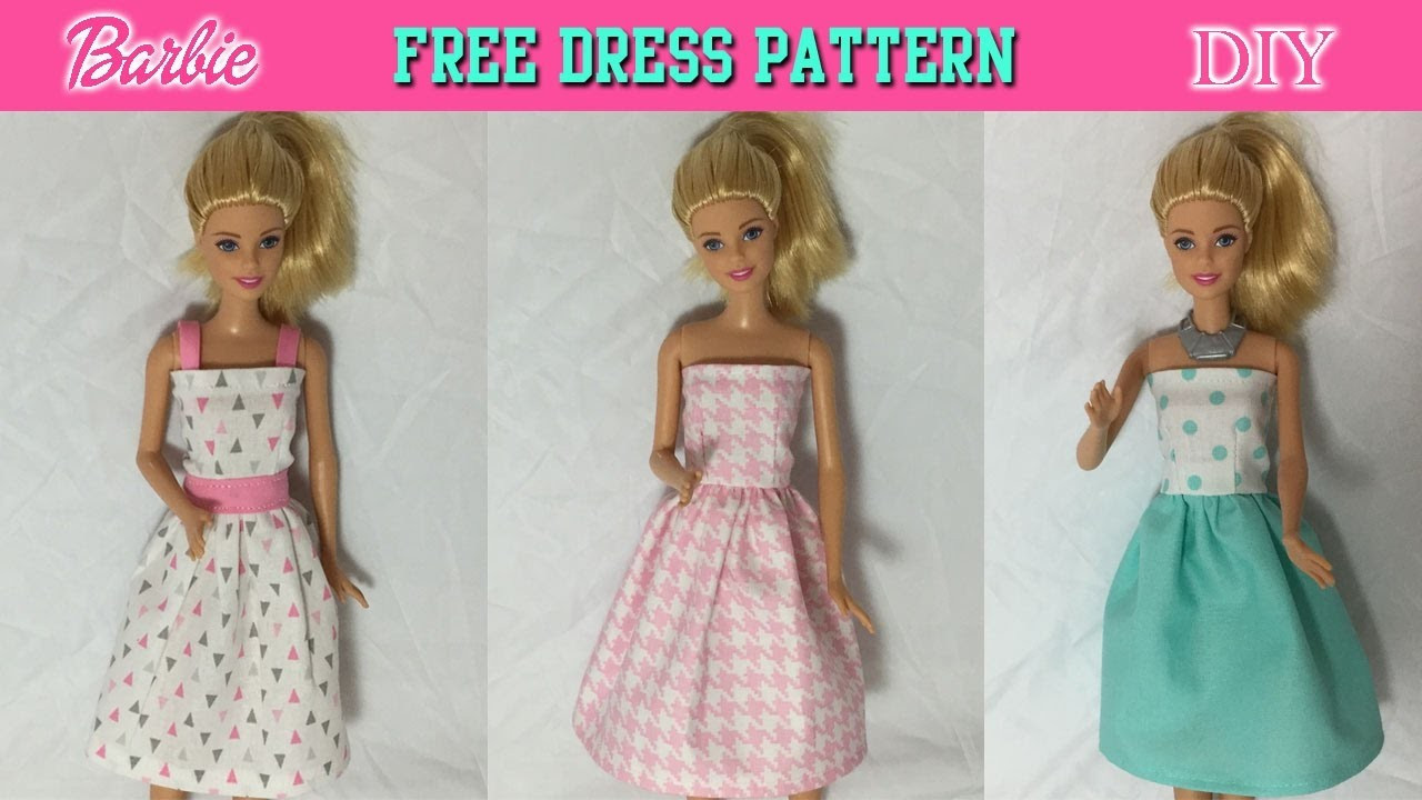 DIY Easy to sew Barbie Dress Tutorial How to make Doll