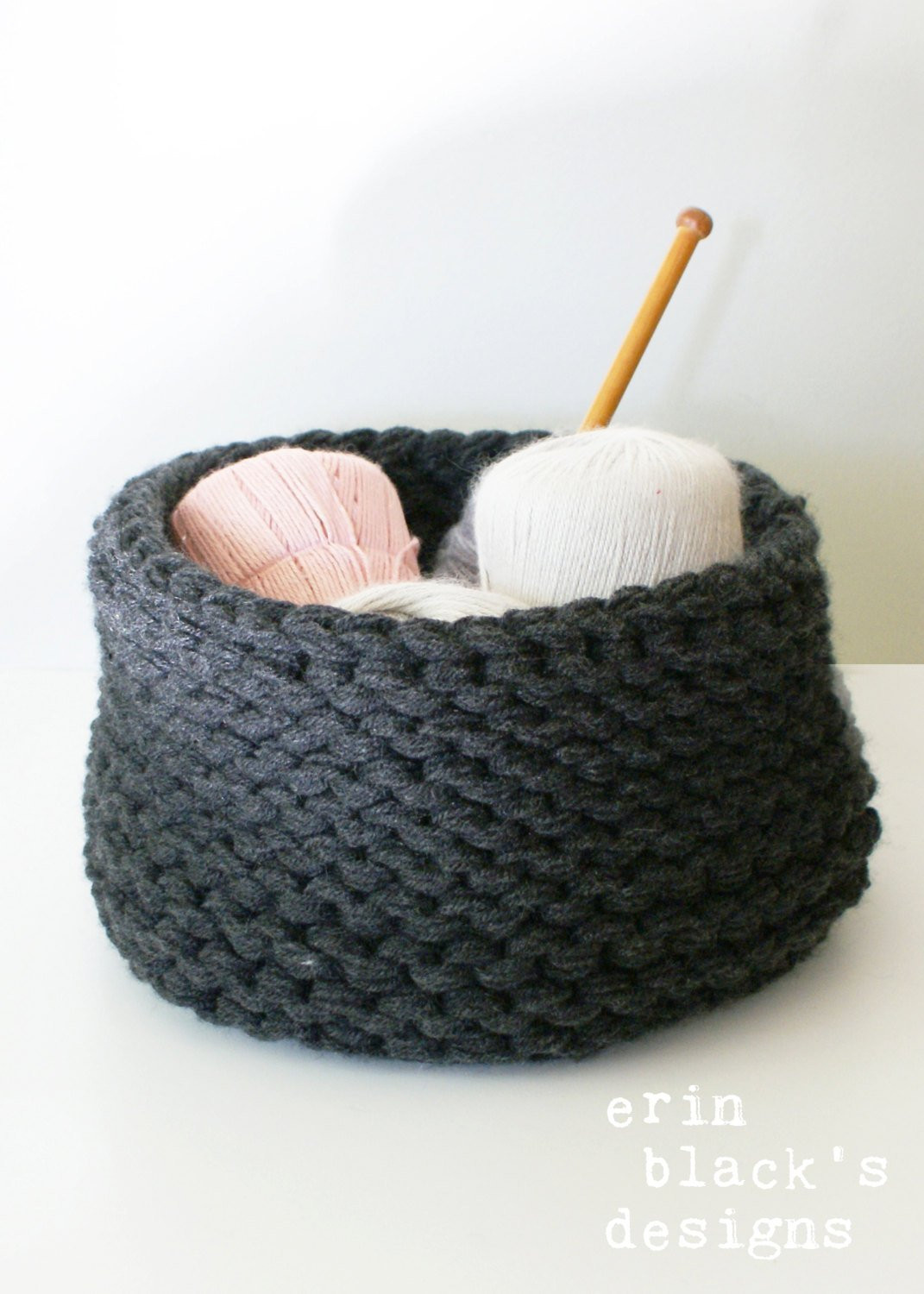 Best Of Diy Knitting Pattern Chunky Knit Baskets 3 Styles Approx Chunky Knit Of Incredible 50 Pictures Chunky Knit