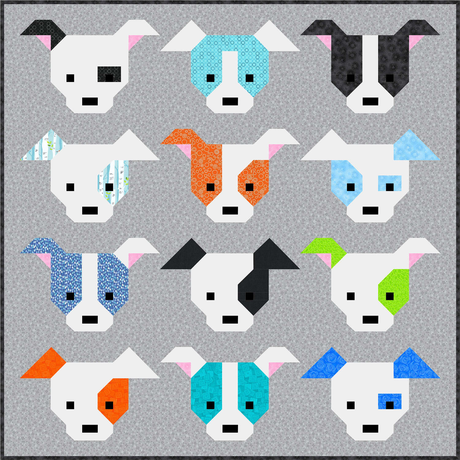 Best Of Dog Gone Cute Quilt Pattern Pdf Instant Download Modern Dog Pattern Of Attractive 45 Photos Dog Pattern