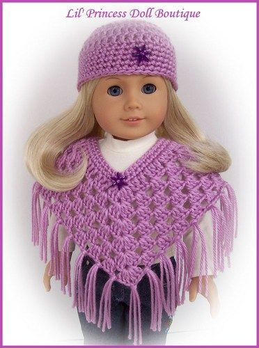 """Best Of Doll Clothes Fit 18"""" American Girl Doll Crochet Poncho Set Free Crochet Patterns for American Girl Dolls Clothes Of Adorable 50 Pictures Free Crochet Patterns for American Girl Dolls Clothes"""