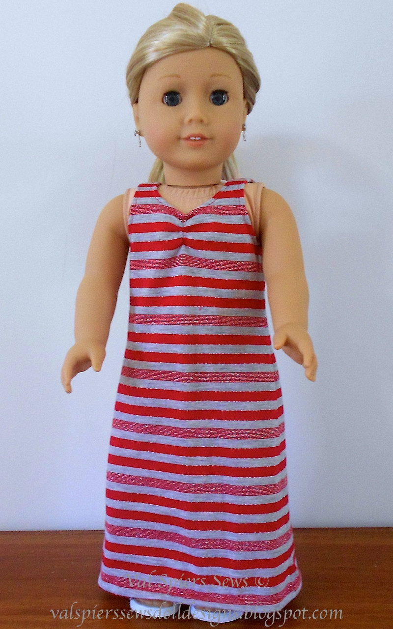 Doll Clothes Patterns by Valspierssews Maxi Dress