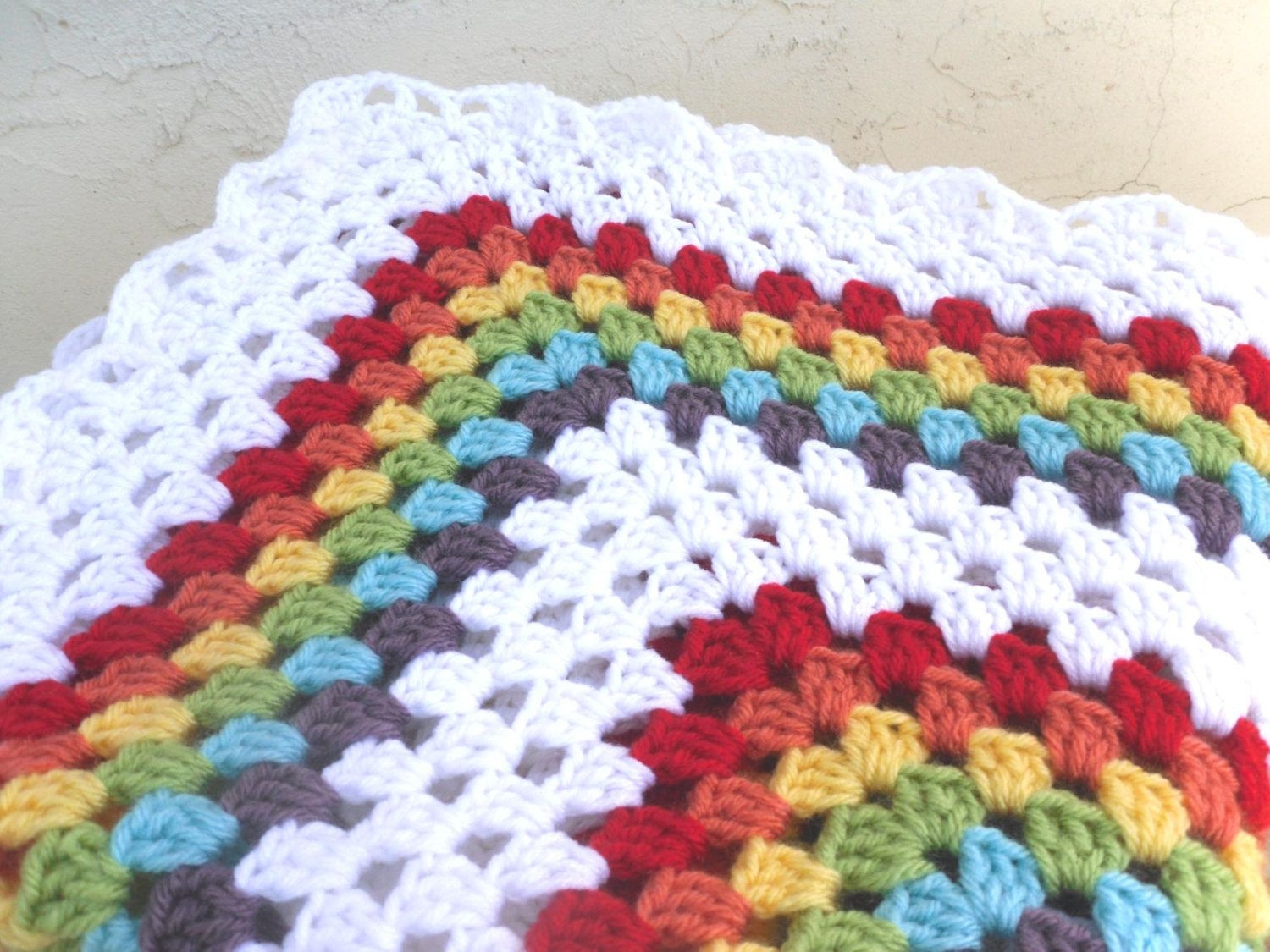 Best Of Double Rainbow Granny Square Crochet Baby Blanket Afghan Granny Square Blanket Pattern Of Lovely 45 Photos Granny Square Blanket Pattern