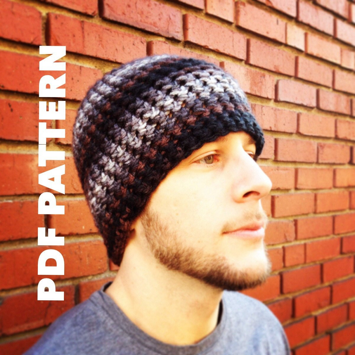 e Hour Striped Mens Beanie Crochet Pattern Bulky Mens