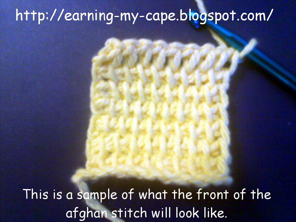 Best Of Earning My Cape Afghan Tunisian Crochet Stitch Tutorial Afghan Stitch Of Innovative 41 Images Afghan Stitch