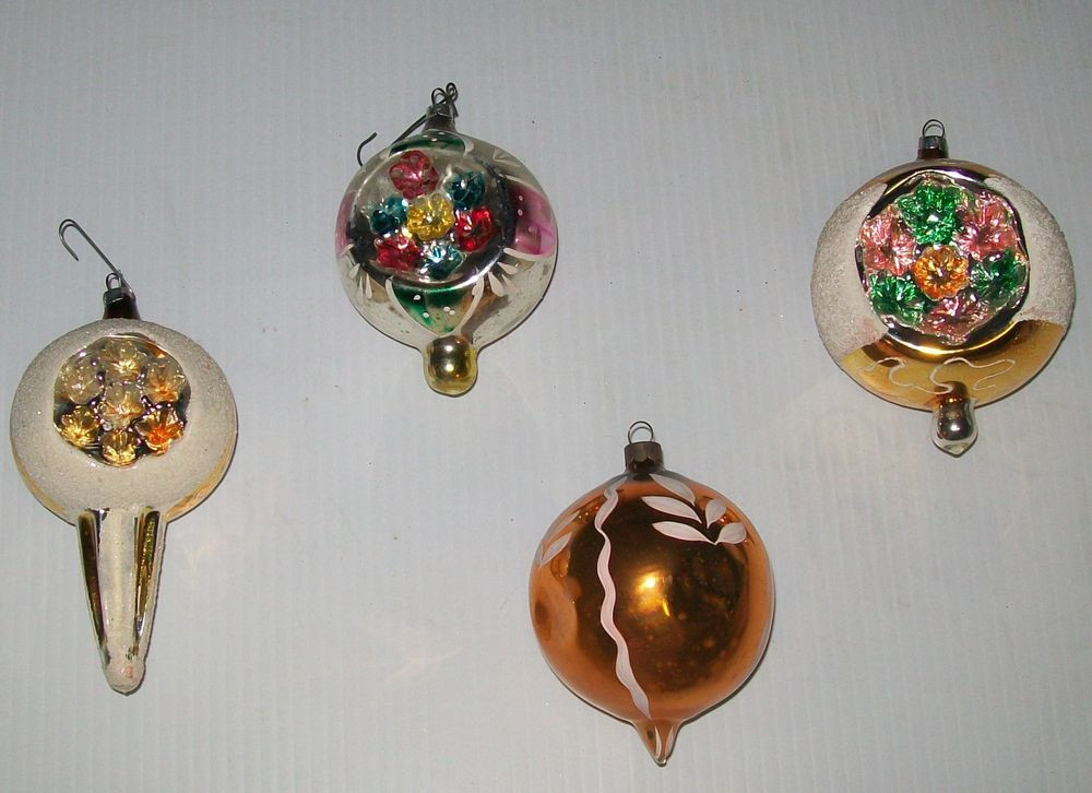 Best Of Estate Sale Vintage Blown Glass Indent ornaments 4 Lot Vintage Christmas ornaments for Sale Of Charming 43 Pictures Vintage Christmas ornaments for Sale