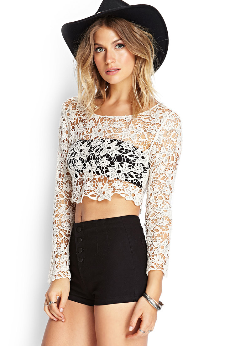 Best Of forever 21 Floral Crochet Crop top You Ve Been Added to Crochet tops forever 21 Of Amazing 46 Pics Crochet tops forever 21