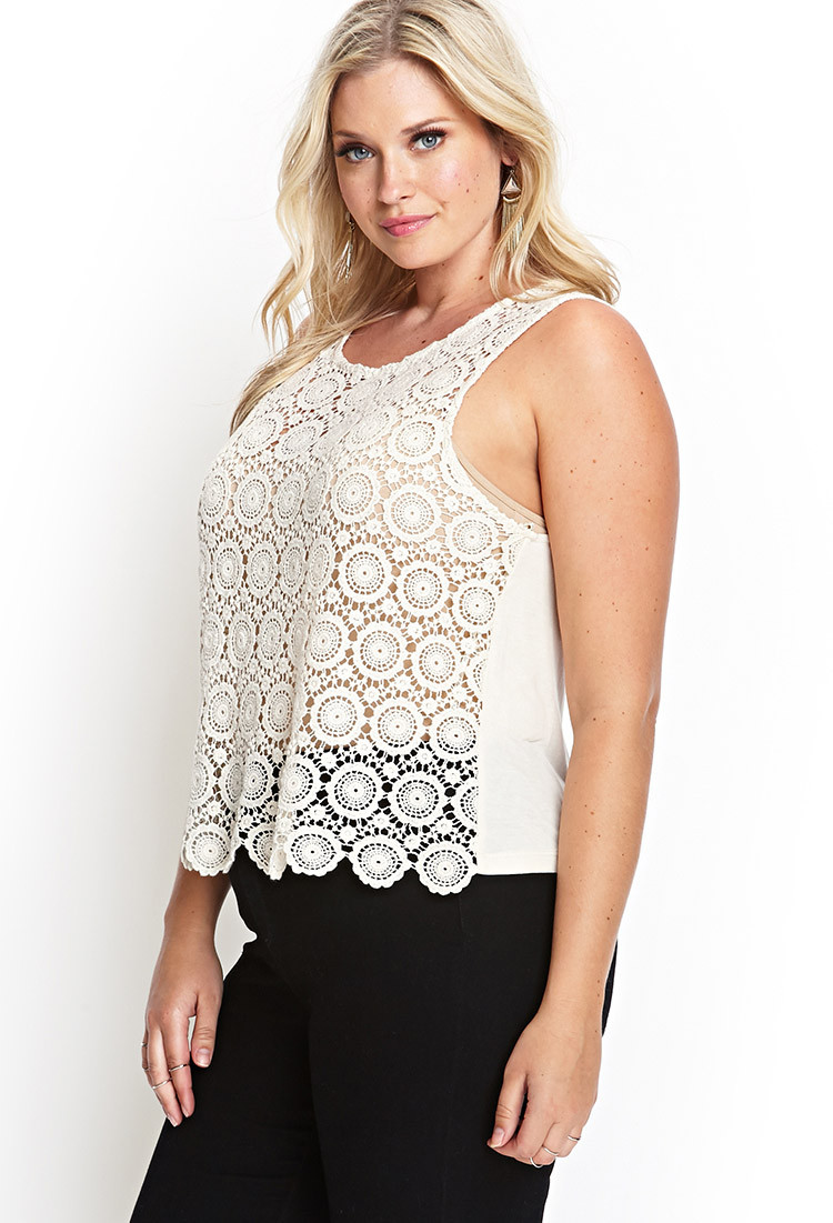 Best Of forever 21 ornate Crochet top In Natural Crochet tops forever 21 Of Beautiful forever 21 Scalloped Crochet top In Beige Cream Crochet tops forever 21