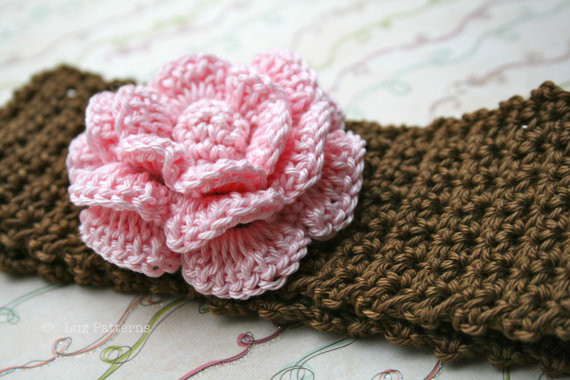 free crochet flower pattern for headband