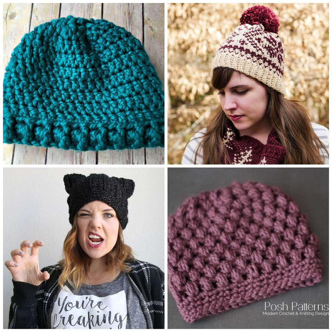 Best Of Free Crochet Hat Patterns Daisy Cottage Designs Crochet Stitches for Hats Of Lovely 46 Models Crochet Stitches for Hats