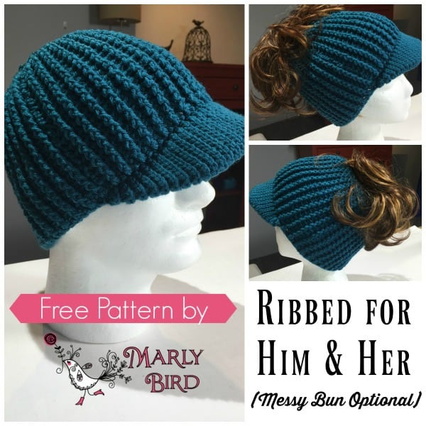 Best Of Free Crochet Messy Bun Hat Pattern Marly Bird Crochet Hat with Brim Free Patterns Of Incredible 49 Ideas Crochet Hat with Brim Free Patterns