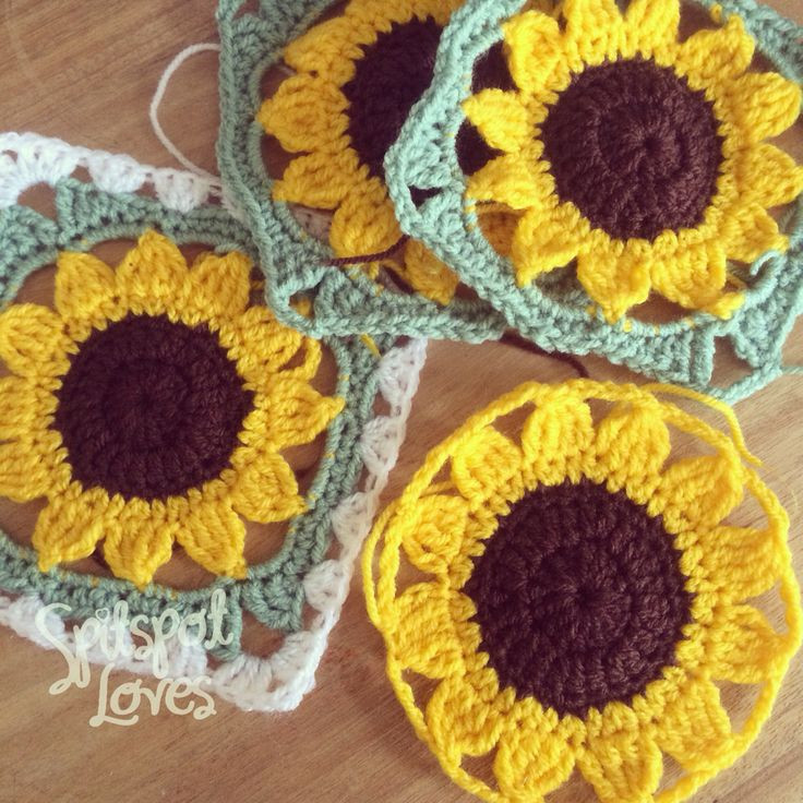 Best Of Free Crochet Pattern Sunflower Afghan Dancox for Sunflower Crochet Blanket Of Contemporary 48 Ideas Sunflower Crochet Blanket