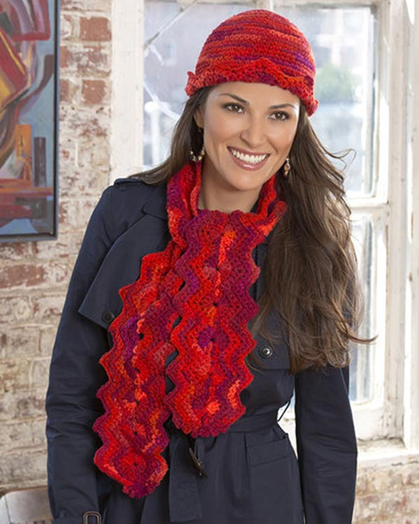 Best Of Free Crochet Pattern Wavy Hat and Scarf From Redheart Crochet Hat and Scarf Patterns Free Of Amazing 47 Pics Crochet Hat and Scarf Patterns Free