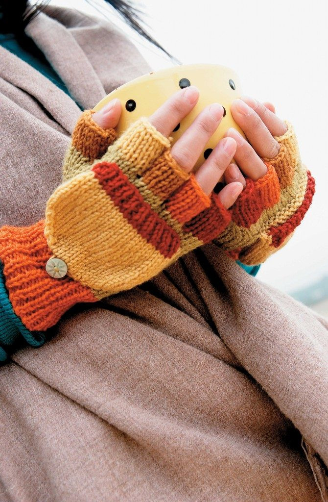 Free Knitted Fingerless Gloves Pattern Magic Mittens