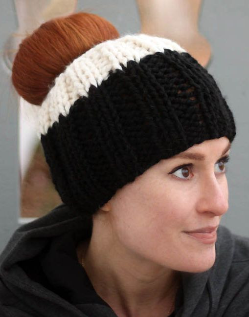 Best Of Free Knitting Pattern for Ribbed Messy Bun Hat Easy Free Knitting Pattern for Ponytail Hat Of Delightful 43 Models Free Knitting Pattern for Ponytail Hat
