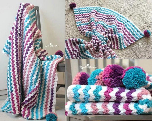 Best Of [free Pattern] Beautiful Crochet Blanket Made with Caron Caron Chunky Cakes Of Amazing 43 Pictures Caron Chunky Cakes
