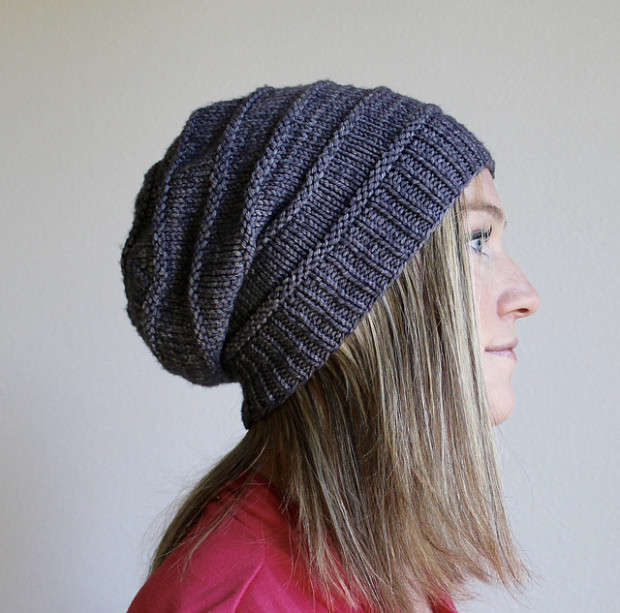 Free pattern Friday Favorite Knit Slouchy Hat by Jamie