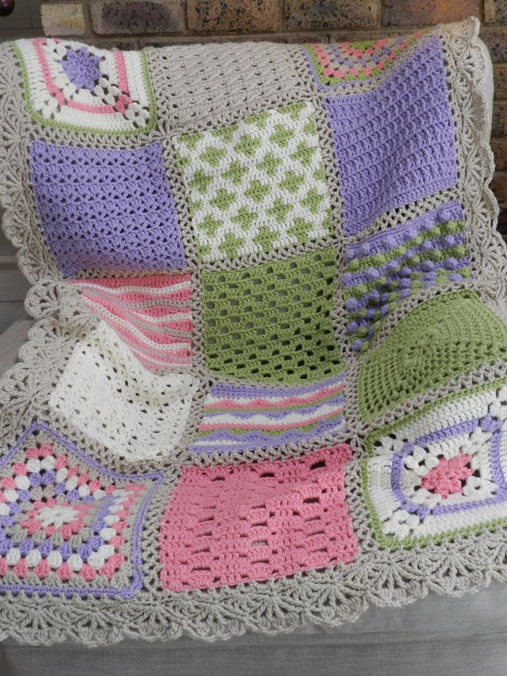 Best Of Ganchillo On Pinterest Crochet Sampler Afghan Of Attractive 47 Pictures Crochet Sampler Afghan