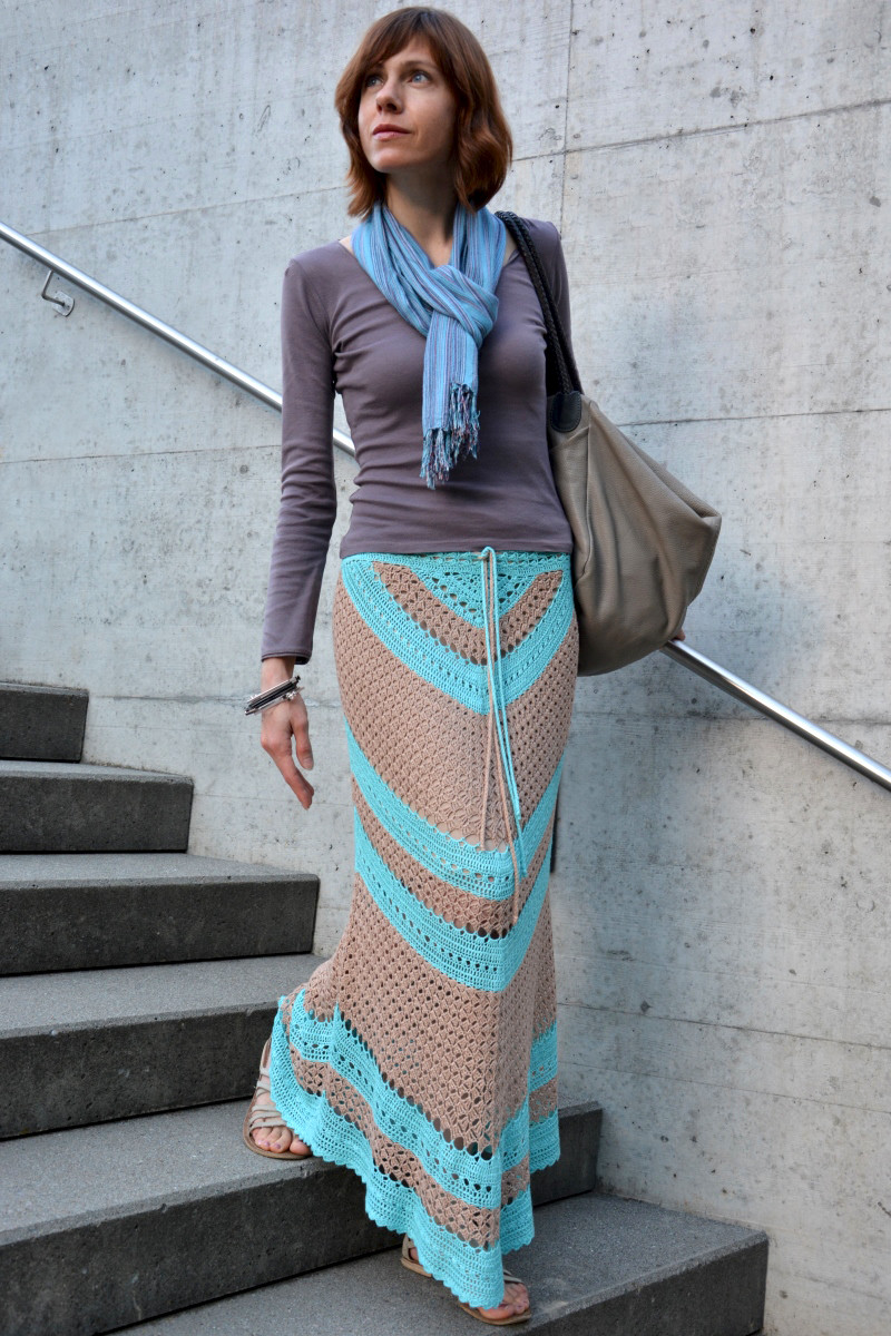 Best Of Geometry In Crochet – Triangle and Diagonal Skirt – Pattern Crochet Skirts Of Contemporary 43 Pics Crochet Skirts