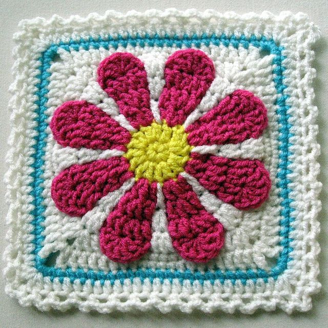Best Of Gerber Daisy Afghan Square Link to Pattern if You Free Crochet Granny Square Patterns Of Top 47 Pics Free Crochet Granny Square Patterns