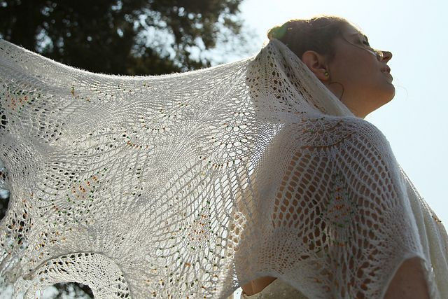 Best Of Gorgeous Knitting Projects that Make Perfect Wedding Gifts Knitted Wedding Shawl Of Awesome Wedding and Bridal Knitting Patterns Knitted Wedding Shawl