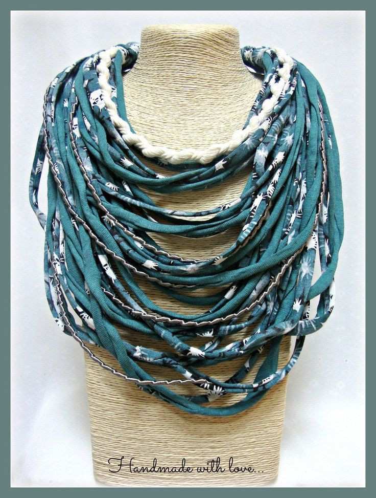Best Of Green T Shirt Yarn Necklace Scarf Necklace Textile Yarn Scarf Of Attractive 49 Photos Yarn Scarf