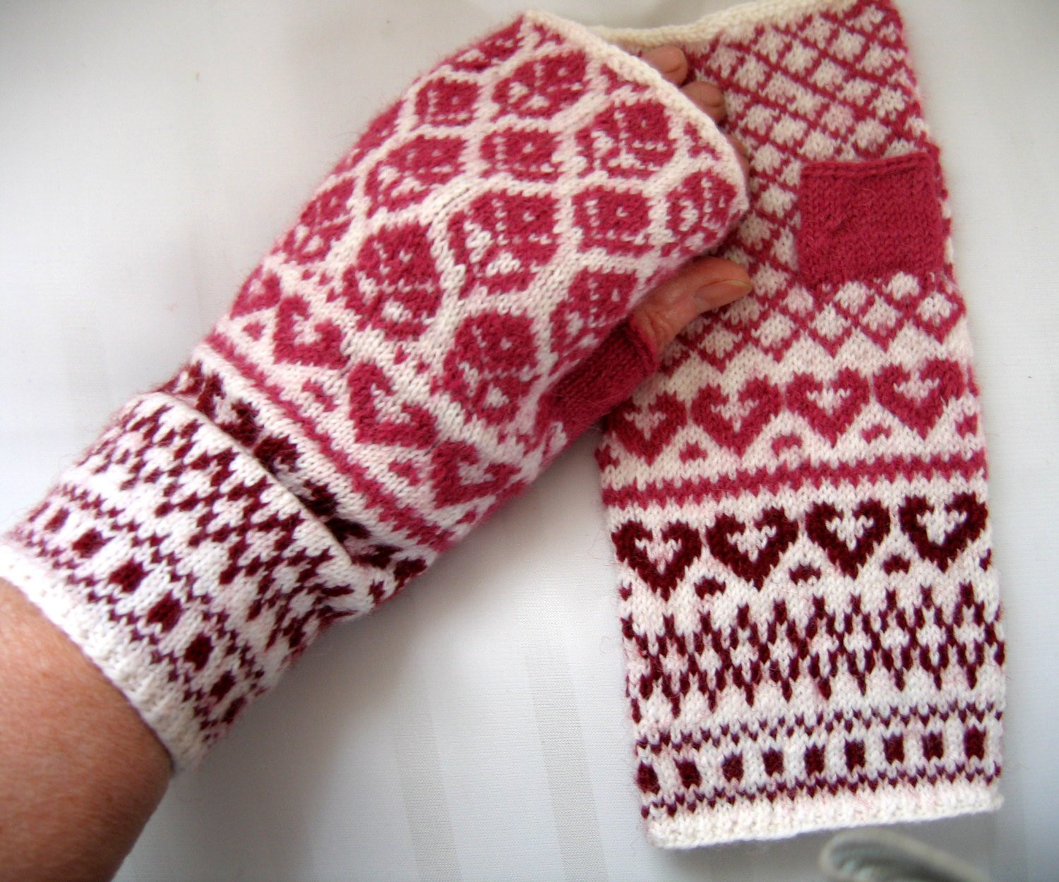 Hand knitted arm warmers Hand knit fingerless gloves