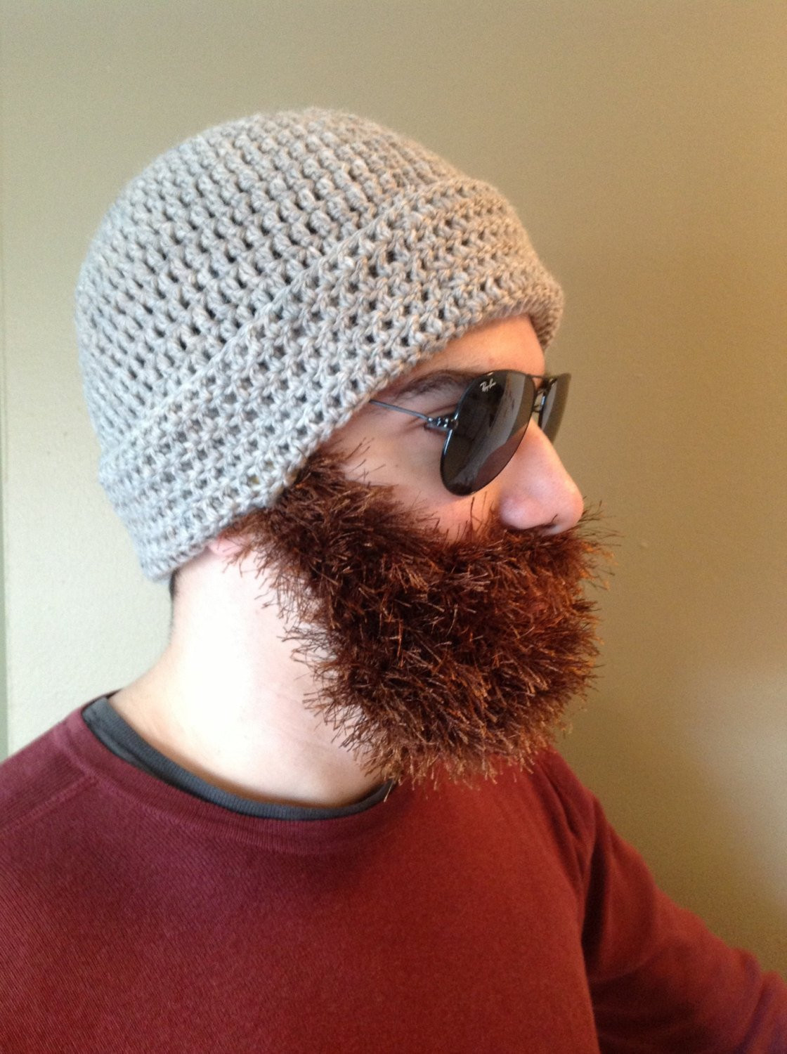 Best Of Handmade Crochet Beard Hat Beard Beanie Dark Creamy Hat with Crochet Beard Hat Of Charming 44 Models Crochet Beard Hat