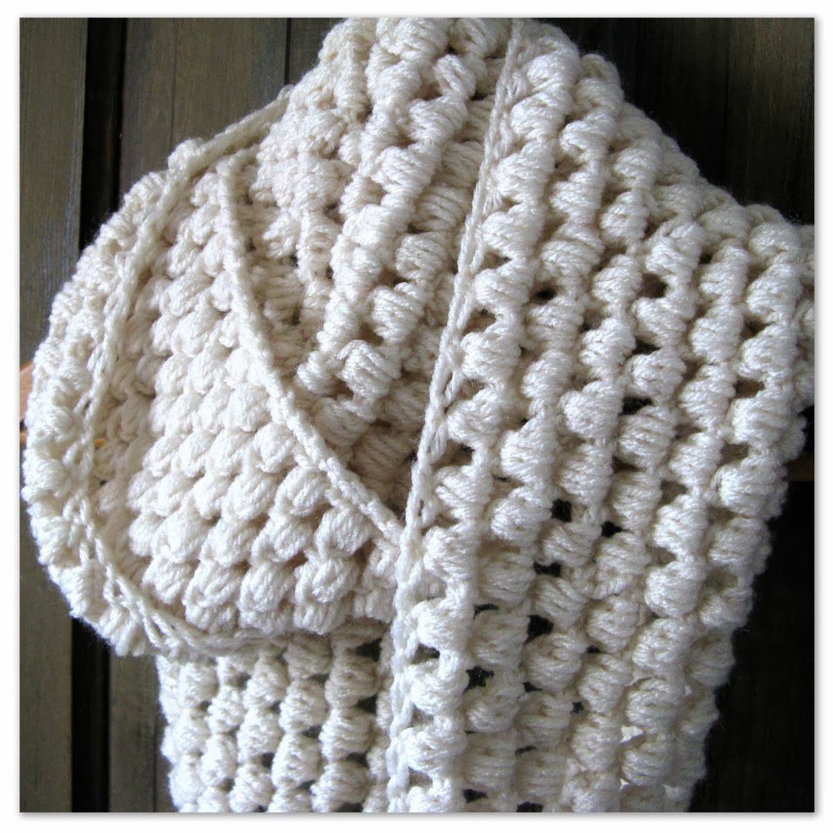 Best Of Happy as A Lark Crocheting A Puff Stitch Infinity Scarf Crochet Stitches for Scarves Of Gorgeous 48 Ideas Crochet Stitches for Scarves