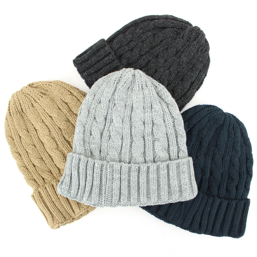 Best Of Hat Cable Beanie Knit Winter Warm Uni Slouch Bobble Mens Knit Caps Of Delightful 41 Ideas Mens Knit Caps