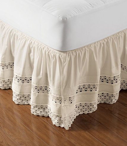 "Best Of Heirloom Crocheted Bed Skirt 18"" Drop Bed Skirts Crochet Bed Skirts Of Gorgeous 41 Pics Crochet Bed Skirts"