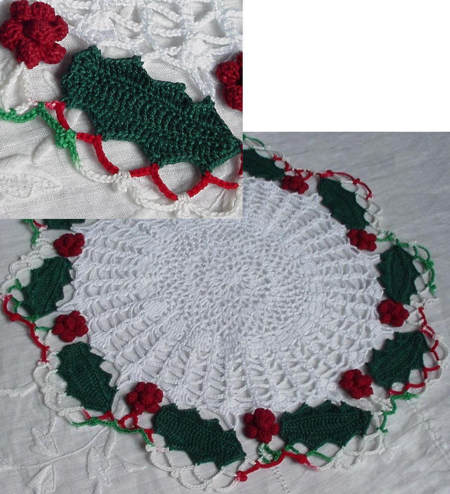 Best Of Holly and Berries Christmas Crochet Doily 12 Inch Christmas Doilies Of Wonderful 44 Photos Christmas Doilies
