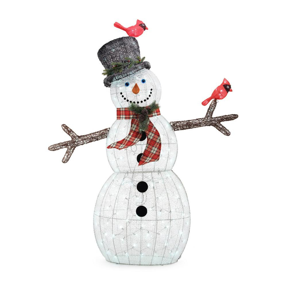 Best Of Home Accents Holiday 72 In Christmas Led Acrylic Snowman Christmas Snowman Decorations Of Adorable 41 Models Christmas Snowman Decorations