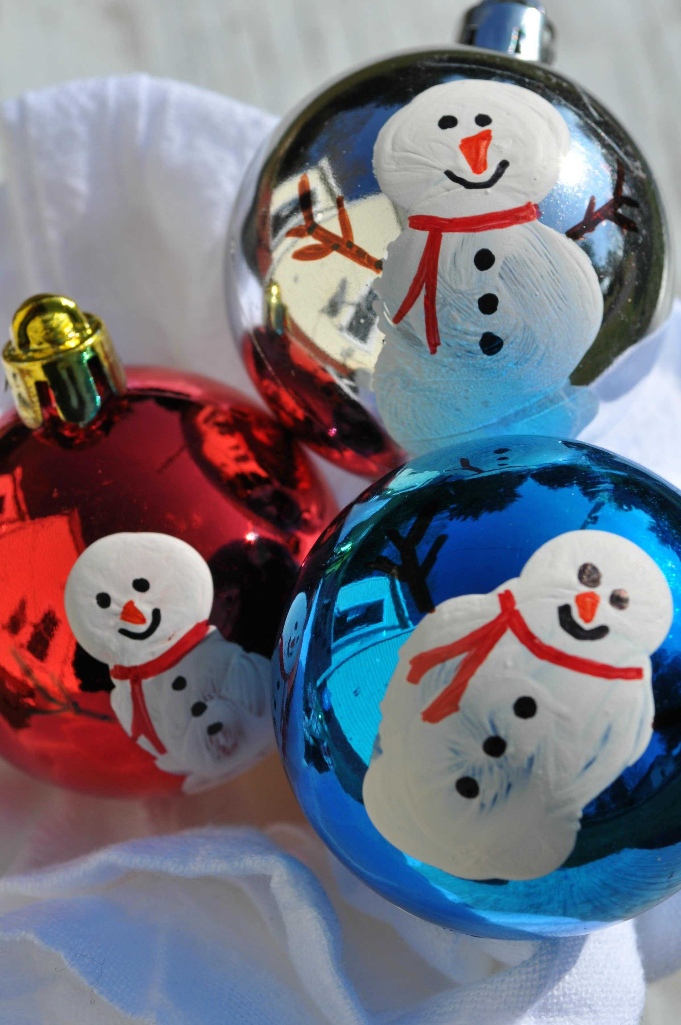 Best Of Homemade Christmas ornaments Thumbprint Snowmen the Christmas Snowman Decorations Of Adorable 41 Models Christmas Snowman Decorations