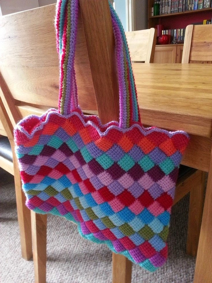 Best Of Hooking Crazy Tunisan Entrelac tote Bag Crochet tote Bag Pattern Of Adorable 48 Photos Crochet tote Bag Pattern