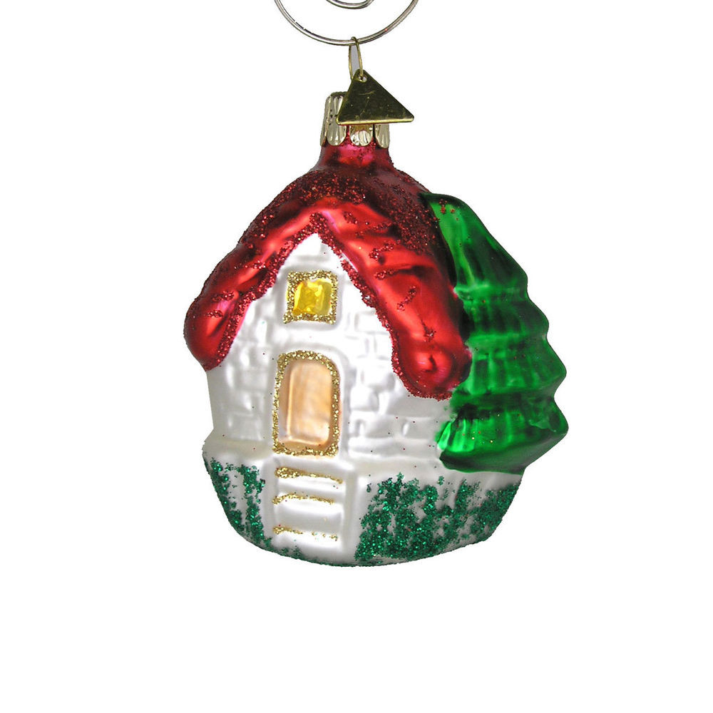 Best Of House with Red Roof Christmas Tree ornament Handblown ornaments On Christmas Tree Of Delightful 46 Images ornaments On Christmas Tree