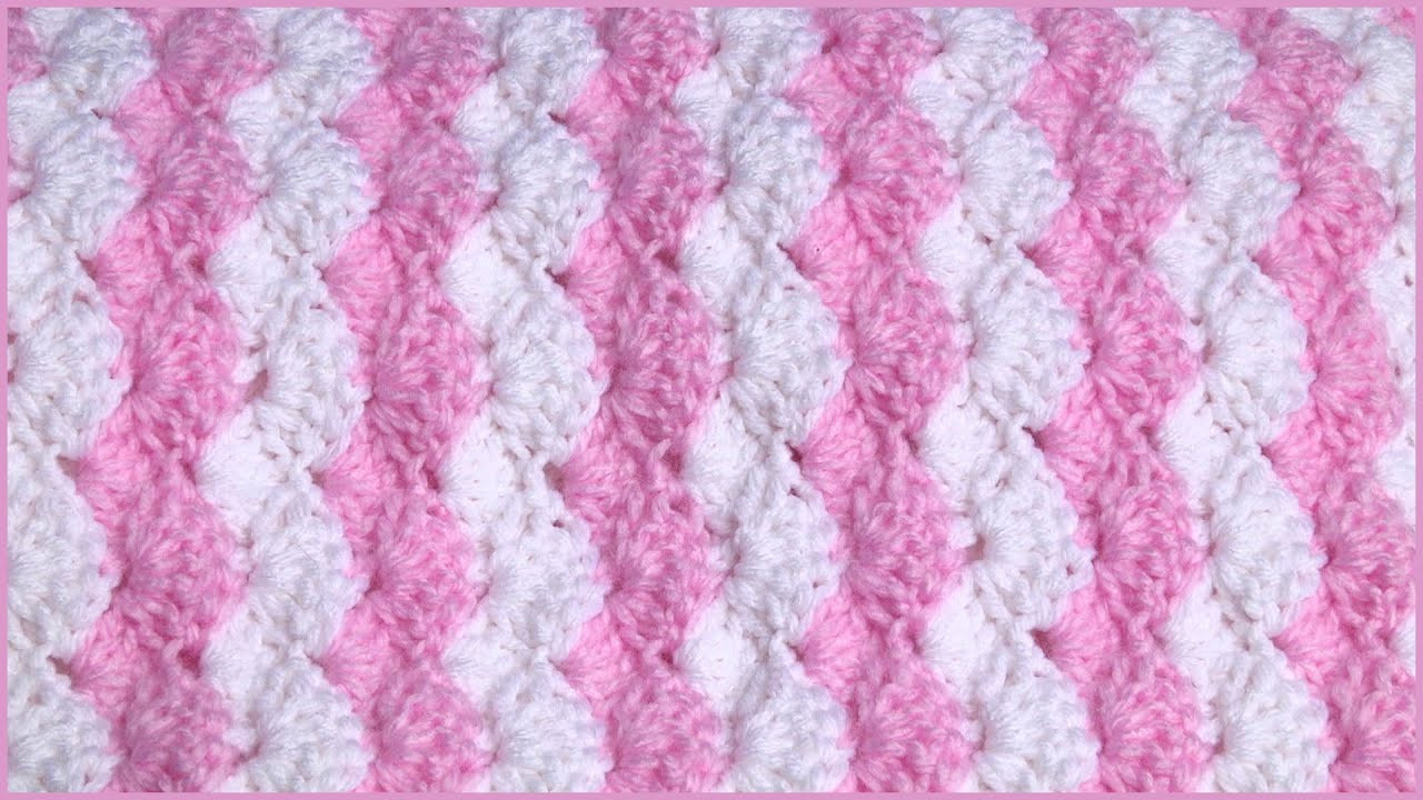 How to Crochet a Baby Blanket Using a Shell Stitch