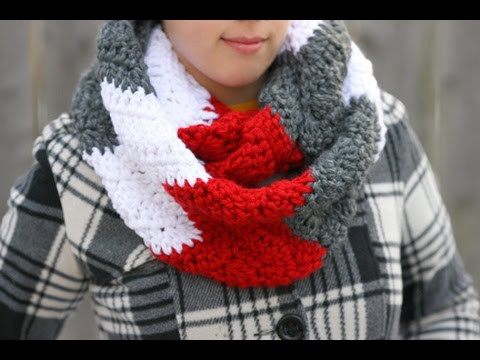 Best Of How to Crochet A Chunky Wavy Cowl Neck Infinity Scarf Crochet Scarf Patterns Youtube Of Contemporary 47 Ideas Crochet Scarf Patterns Youtube