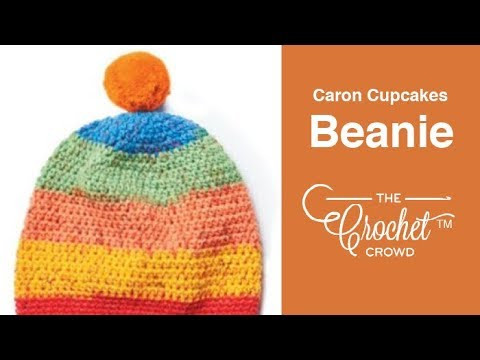 How to Crochet ? Caron Cupcakes Pompom Hat 2 10 Years