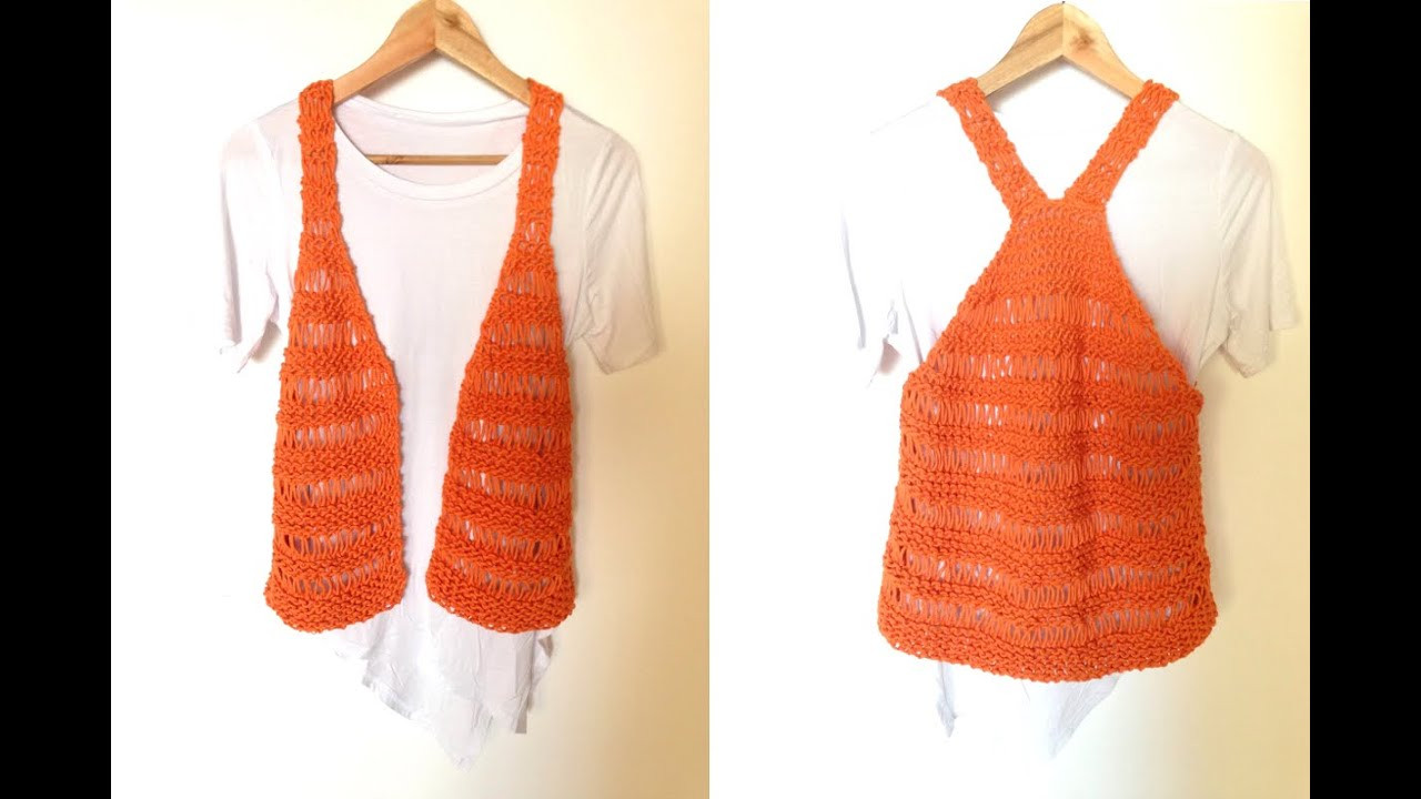 How to Loom Knit a Summer Vest DIY Tuteate